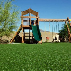 playground on artificial grass turf