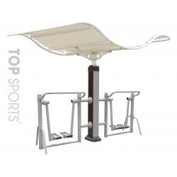 thiết bị tập thể dục ở công viên Đi bộ trên không có mái che