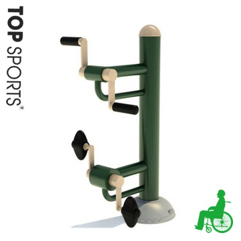 commercial outdoor gym fitness equipment for disabled