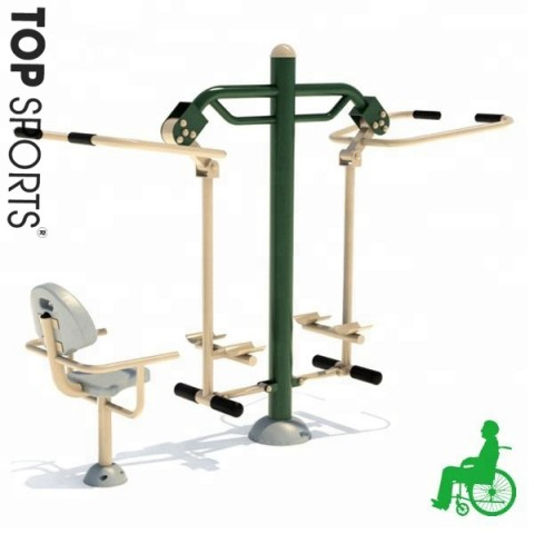 new style outdoor disabled fitness equipment for