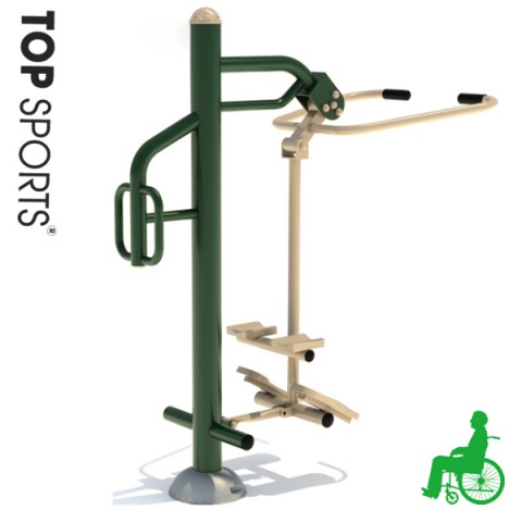 outdoor gymnastic disabled fitness equipment for used