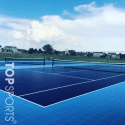 san tennis pvc mau xanh