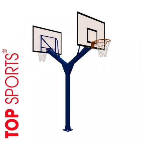 cột bóng rổ đôi cố định, bảng topsports composite.