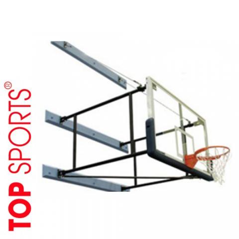 bóng rổ gắn tường trường học. bảng kính